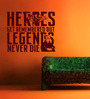 Creative Width Vinyl Legends And Heros Wall Sticker in Burgundy