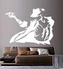 Creative Width Vinyl Michael Jackson Wall Sticker in White