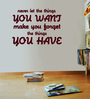Creative Width Vinyl Never Let The Things Wall Sticker in Burgundy