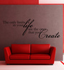 Creative Width Vinyl No Limits In Life One Wall Sticker in Black