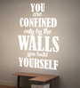 Creative Width Vinyl Wall You Build Yourself Two Wall Sticker in White