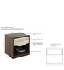 Crescent Bedside Table in Dark Acasia Finish by Spacewood