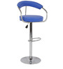 Crocian Bar Chair in Blue Color by The Furniture Store