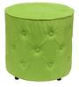 Cronaland Round Ottoman in Green Colour by SIWA Style