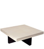 Cross Base Coffee Table in White & Black Colour by AfyDecor