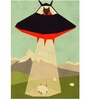 Crude Area Paper 12 x 17 Inch UFO Wolf Print Unframed Poster