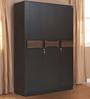 Crysler Three Door Wardrobe in Wenge Colour by Crystal Furnitech