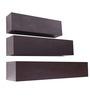 Crystal Furnitech Wenge Engineered Wood Wall Shelves - Set of 3