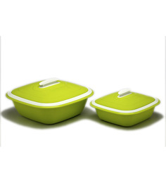 Cutting Edge Solitaire Double Walled Casseroles 2pcs - Green