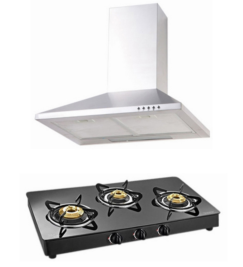 Cubix 1002 60 Cm Hood Chimney & 3-Burner Ai Hob Combo  available at Pepperfry for Rs.7749