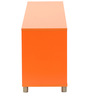 Yuma Cube Cabinet in Orange Colour by Mintwud