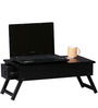 Oakville Low Height Solid Wood Study Table in Espresso Walnut Finish by Woodsworth