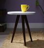 Arlington Tripod Stool cum Table In Dual Tone by Woodsworth