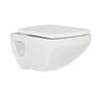 Curo Altis White Ceramic 20.9 x 14 x 12.8 Inch Wall Hung Closet