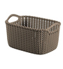 Curver 03675 Plastic Brown 3 L Knit Rectangular Extra Small Storage Basket