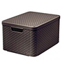 Curver 3617 Plastic Brown Small Storage Box with Lid
