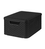 Curver 3618 Plastic Grey Medium Storage Box with Lid