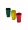 Cutting Edge Multicolour Plastic 375 ML Tumbler - Set of 6