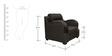D Style (3 + 1 + 1) Seater Sofa Set in Dark Grey Colour by RVF