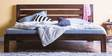 Dallas Queen Size Bed in Provincial Teak Finish by Woodsworth