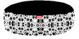 Dalmation Paws Round Pet Bean Bag Cover in Black & White Colour by Orka