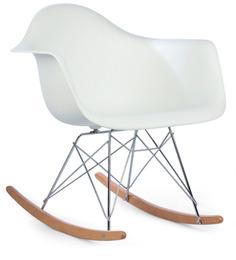 Daytona Beach Club Rocking Chair in Winter White Colour by HomeHQ