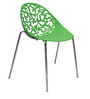 Daffodil Stackable Chair with Designer Back in Green Colour by Starshine