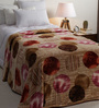 Daffodils Beige Poly cotton Single Size Blanket
