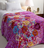 Daffodils Purple Poly cotton Single Size Blanket