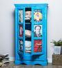 Daft Medium 2 Door Wardrobe in Azure Blue Finish by Bohemiana