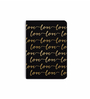 DailyObjects Multicolour Paper Repeating Love Gold on Black Plain A5 Notebook