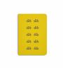 DailyObjects Multicolour Paper Yellow Cycle Plain A5 Notebook