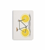 DailyObjects Multicolour Paper Zest Yellow Wheels Plain A5 Notebook