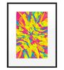 DailyObjects Paper Bubble Gum Explosion Framed Art Print