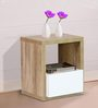 Daisuke Bed Side Table in Natural Finish by Mintwud