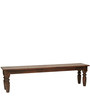 Dallas Bench in Dark Brown Colour by Inliving