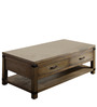 Dalton Two Drawer Polished Coffee Table in Brown Colour by Asian Arts