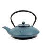 Dancing Leaf Bamboo Blue Cast Iron 770 ML Teapot