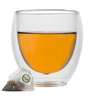 Dancing Leaf Double Walled Borosilicate Glass 80 ML Cup - Set Of 2
