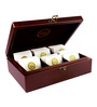 Dancing Leaf Square Wooden Chest With 36 Free Tea Temples