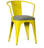 Danlou Yellow Color Iron Chair with Cushion by Bohemiana