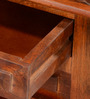Vemaki Bed Side Table in Honey Oak Finish by Mudramark