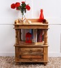 Vemaki Bed Side Table in Natural finish by Mudramark