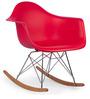 Daytona Beach Club Rocking Chair in Rocking Red Colour by HomeHQ