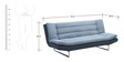 Deep Comfortable 3 Seater Sofa Bed by Furny