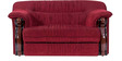 Define Two Seater Sofa in Maroon Colour by Home City