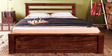 Detroit Queen Bed in Provincial Teak Finish by Woodsworth