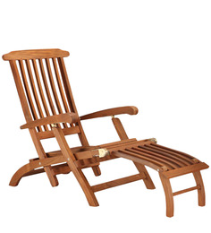 Deck recliner - Teak wood by Tube Style