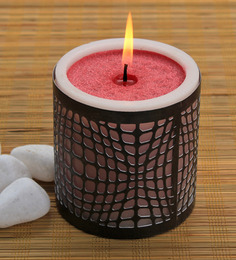 Decoaro Festive Rose Candle Candle with Holder