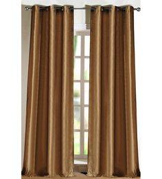 Deco Essential Dark Beige 9Ft Door Curtain - Set of 2